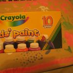 Washable a must. This Crayola paint worked really well.