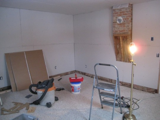 Phew, all of the drywall is UP.
