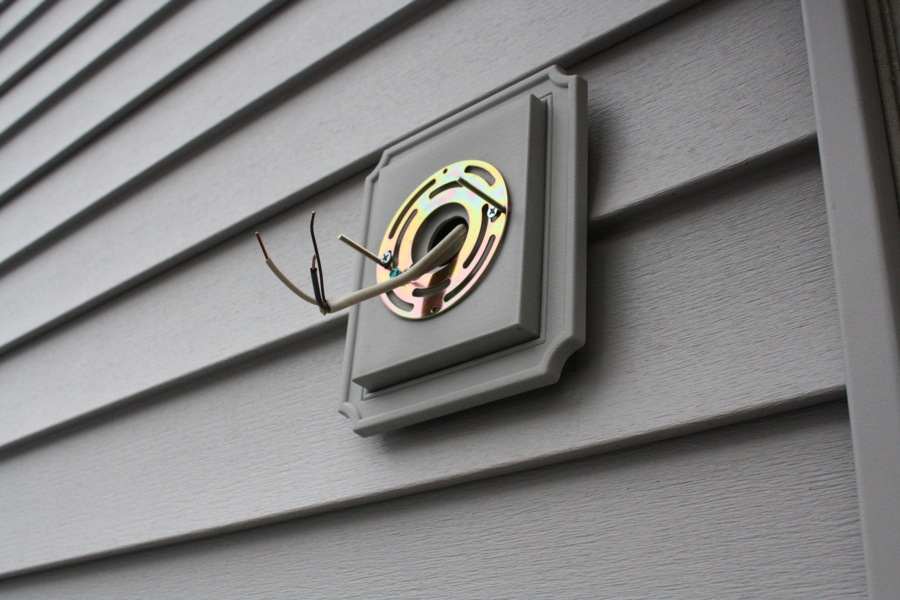 Outdoor Light Fixture Vinyl Siding Oldies Eat Cum