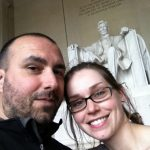 Hello Lincoln. Me + Pete at the memorial.