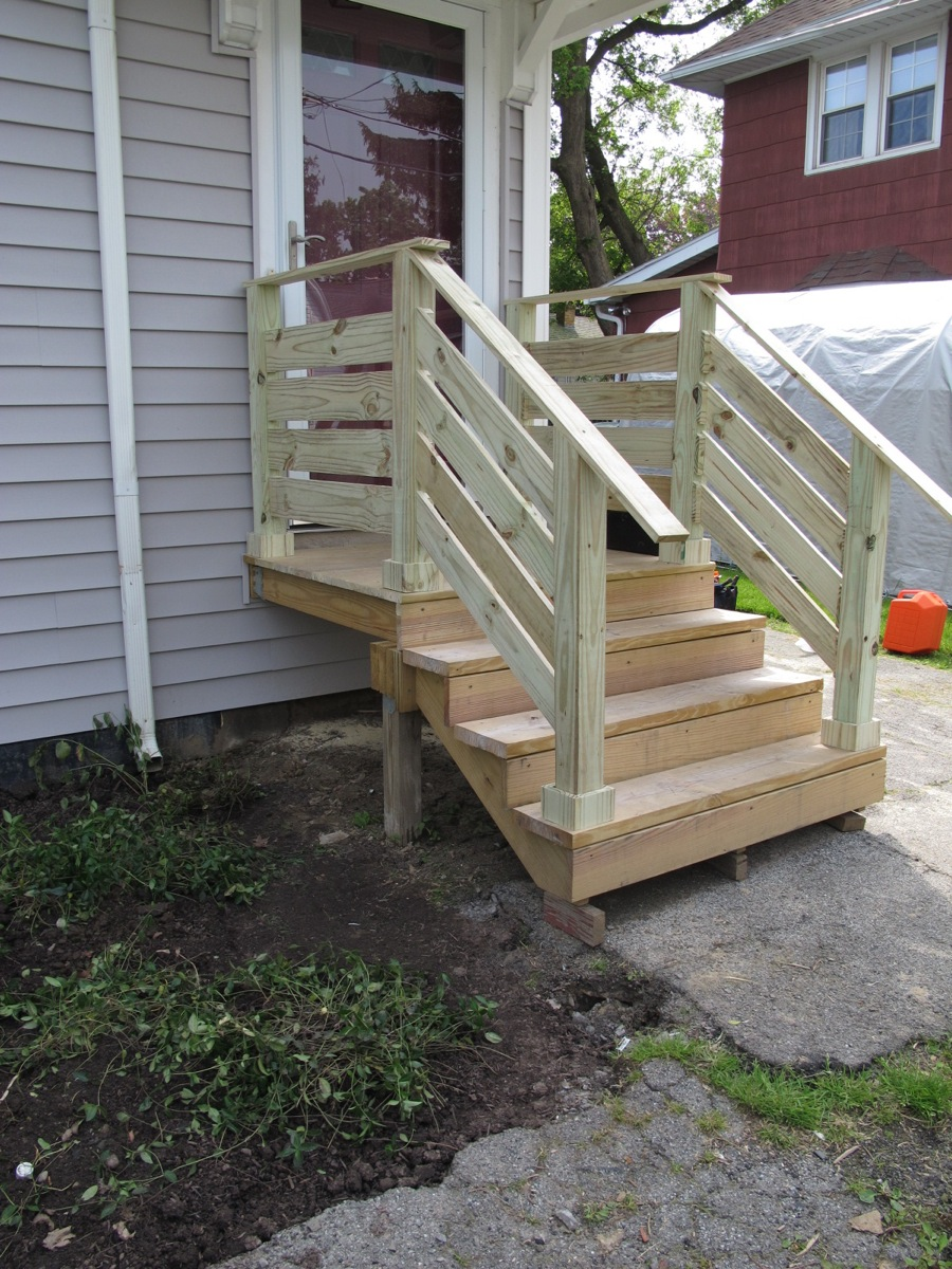 wood front porch steps diy front porch railings merrypad