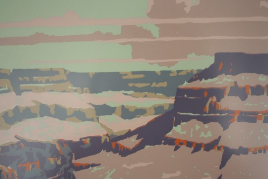 Color detail in the Grand Canyon print.