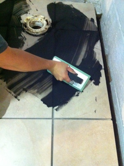 Grout time!
