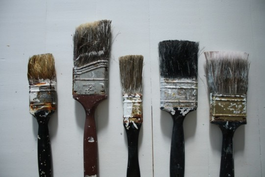 Bad brushes. The one on the left was especially stiff.