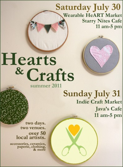 Hearts & Crafts, this Saturday and Sunday!