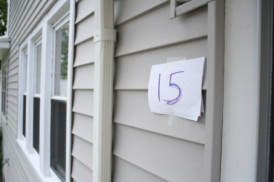 Temporary house number