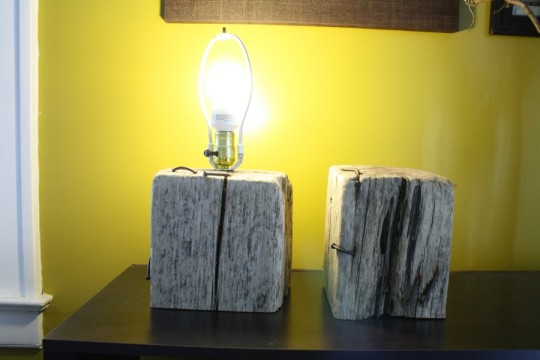 A good lookin' set of squatty driftwood lamp bases.