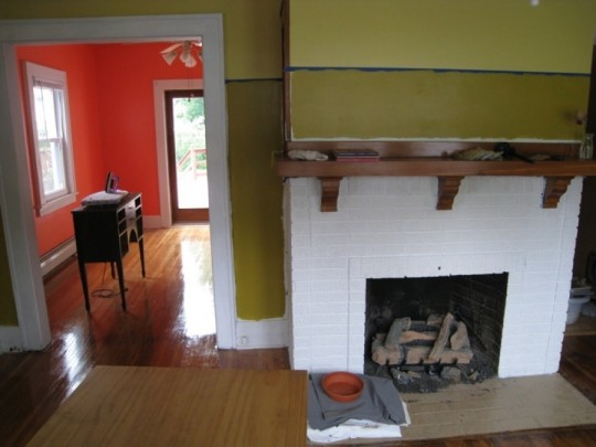 Living room in progress, circa May 2009