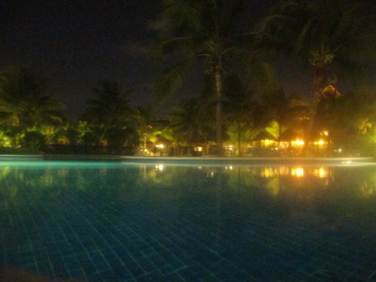 Poolside at night at the Gran Bahia Principe.