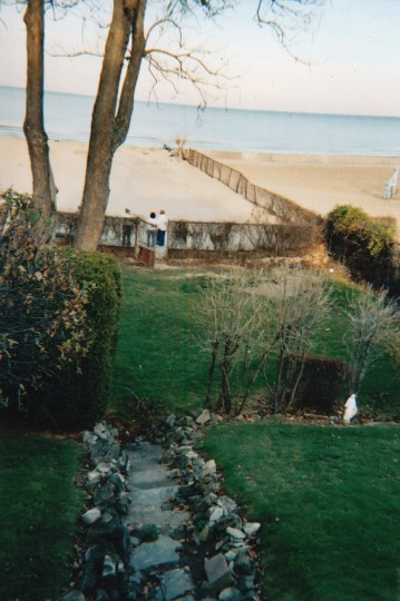 Before: View from the porch overlooking the beach.
