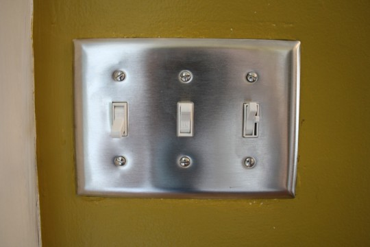 $10 (re)investment for a new dimmer switch. See the subtle switch on the right?