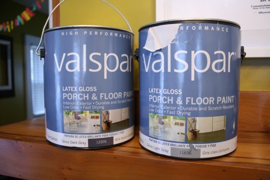 Glossy Dark and Light Gray Porch & Floor Paint by Valspar