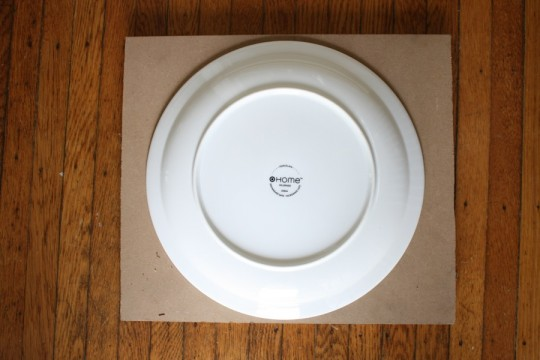 Free MDF with an already-owned handy template (dinner plate, yo).