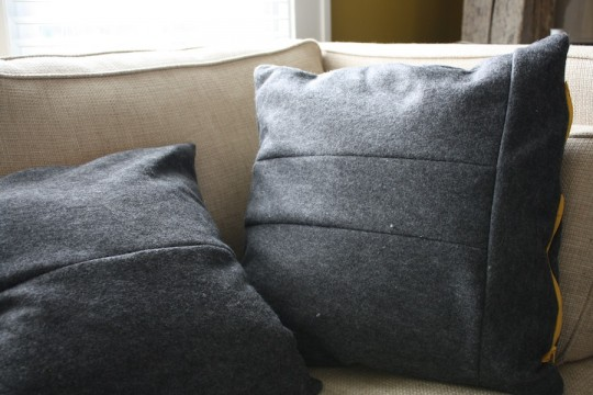 A little scrappier than others, the backsides of these pillows took on a more patchwork appearance.