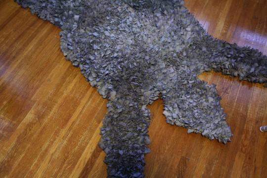 Shaggy rug, complete.