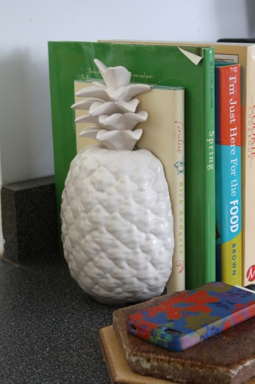 Pineapple bookend.