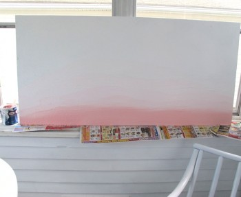 Sunroom ombre art.