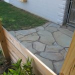 Finished flagstone patio.