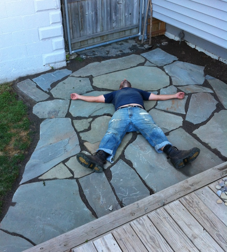 The 12 hour DIY Flagstone Patio