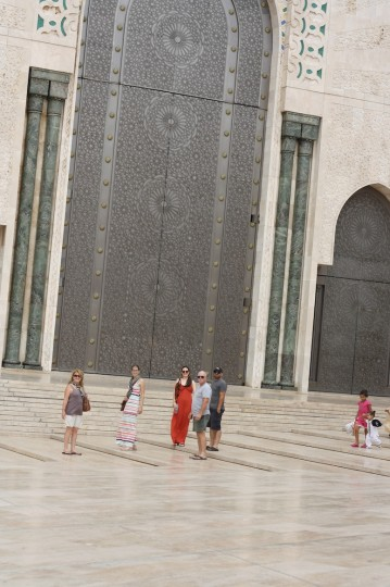 At the Hassan II Mosque, Casablanca, Morocco.
