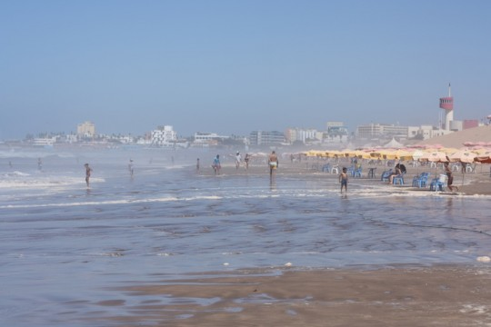 The expansive beaches of Casablanca, Morocco.