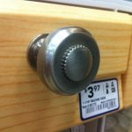 Lowe's drawer knob! Choice #1.