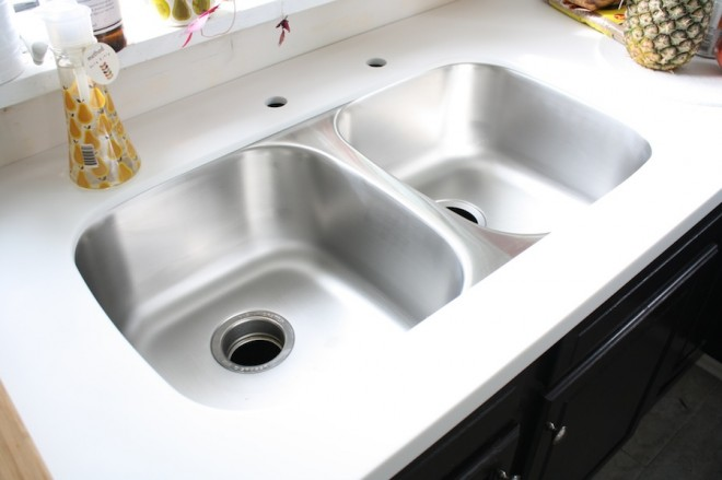 Smooth finish, beautiful stainless sink.