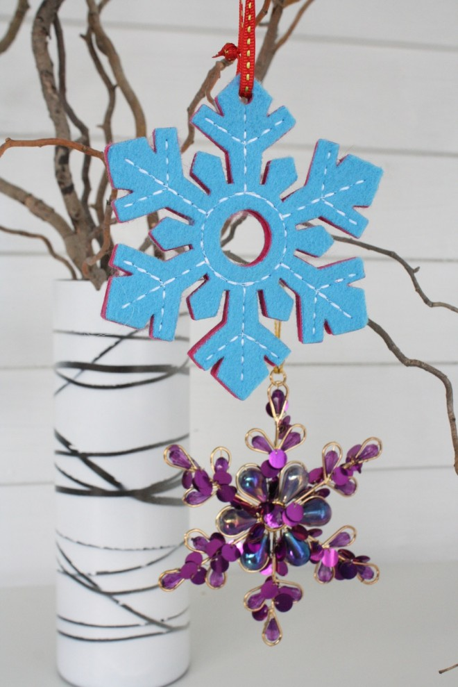 New snowflake ornaments.