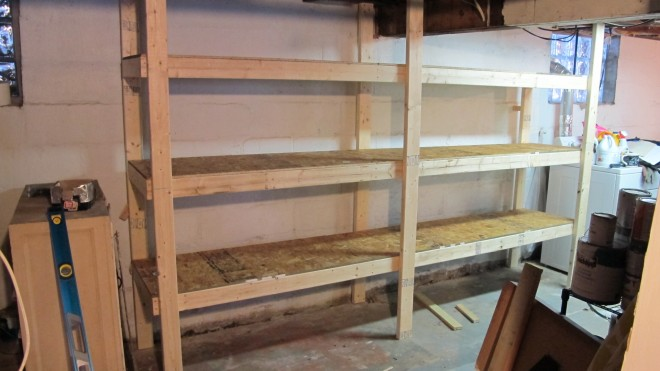 Basement shelving makeover.