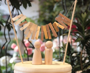 How to make a custom bunting for your wedding cake.