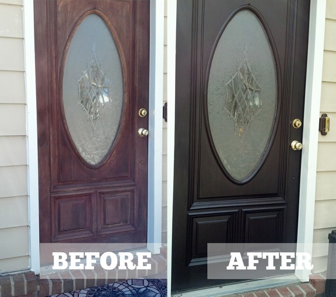 Diane's Java Gel Stain Door Makeover.