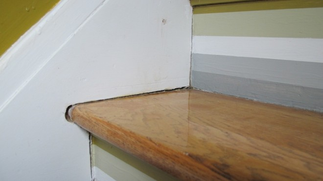basement staircase to fully expose the underside of our main stairwell