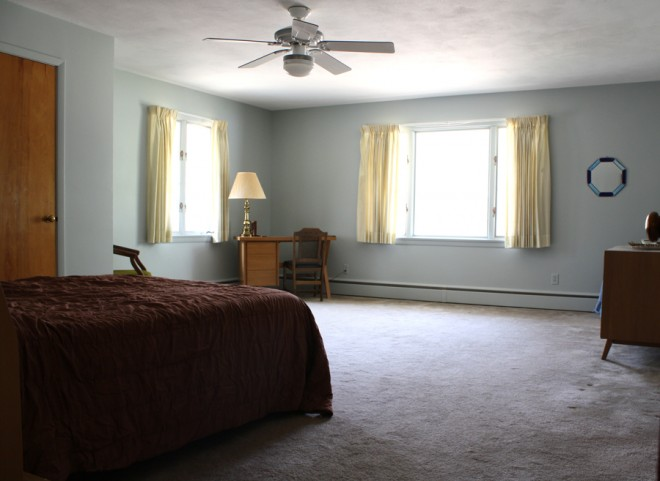Master bedroom with the seller's furniture.