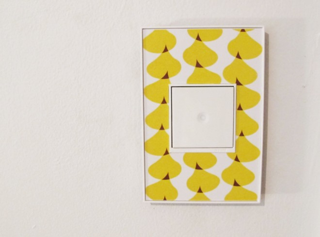 Custom Adorne Switch plate cover using a vintage scandinavian design.