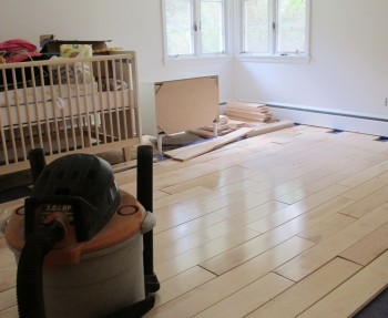 Nursery flooring, racked wonderfully.