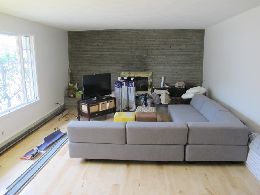 The Pretty New Sectional Successfully Breaking Up Our Huge Living