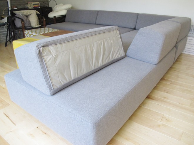 The West Elm Tillary Sofa back supports do not attach.