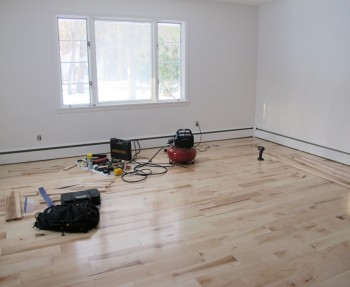 Master bedroom flooring is done!