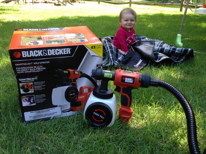 Black & Decker HVLP Paint and Stain sprayer... and the baby.