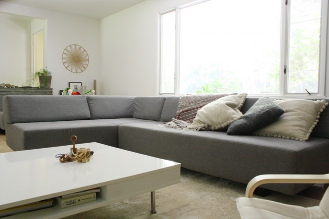 The West Elm Tillary Sectional Sofa in our modern home - An honest review!