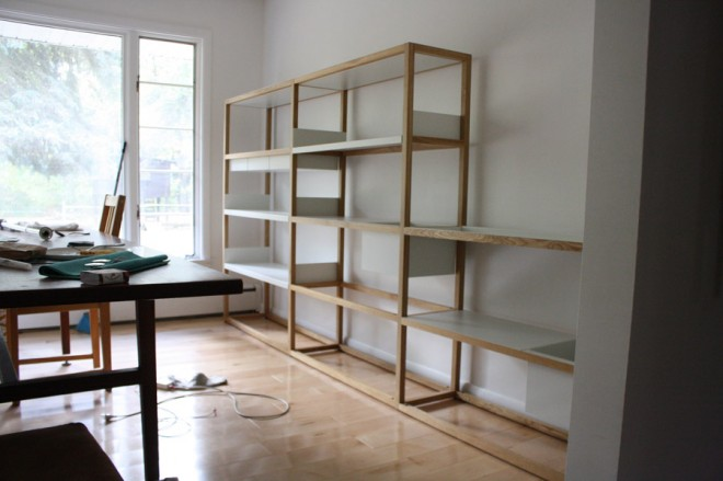 Lap shelving system in our dining room.