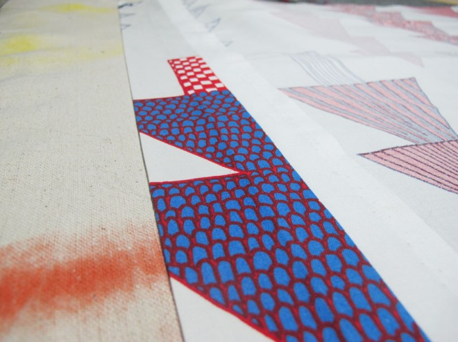Marimekko Tapestry - making a clean edge with no sew tape.