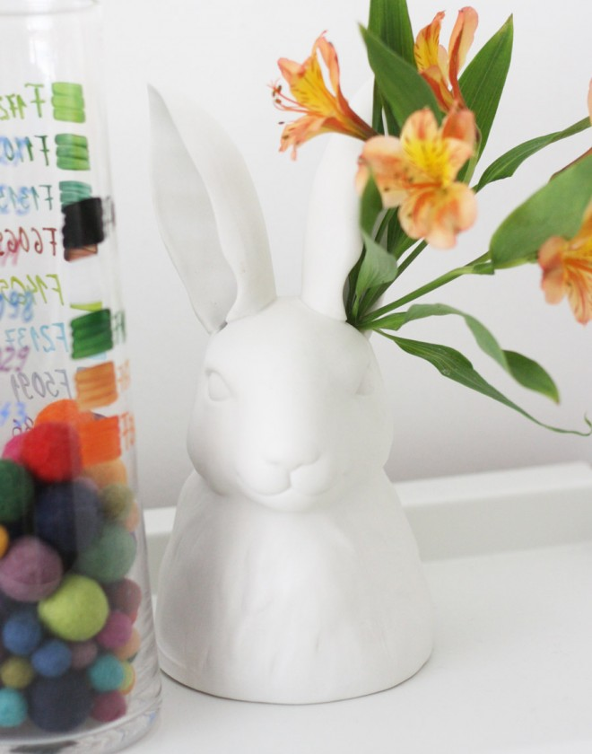 Rabbit vase from Anthropologie (all ready for spring).