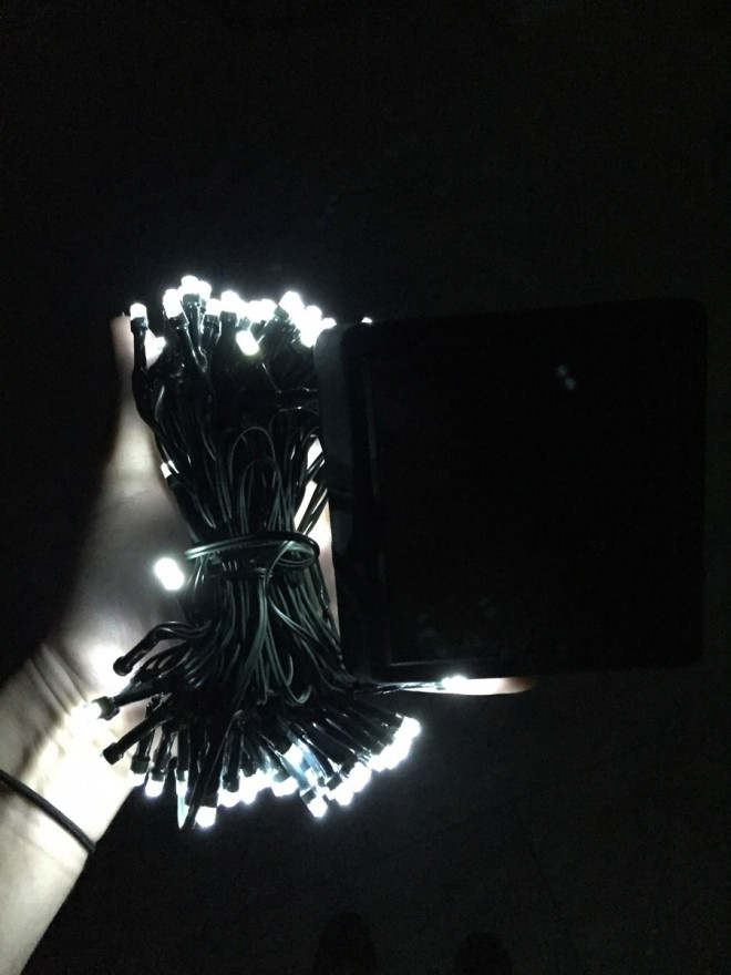 LED solar light strand.