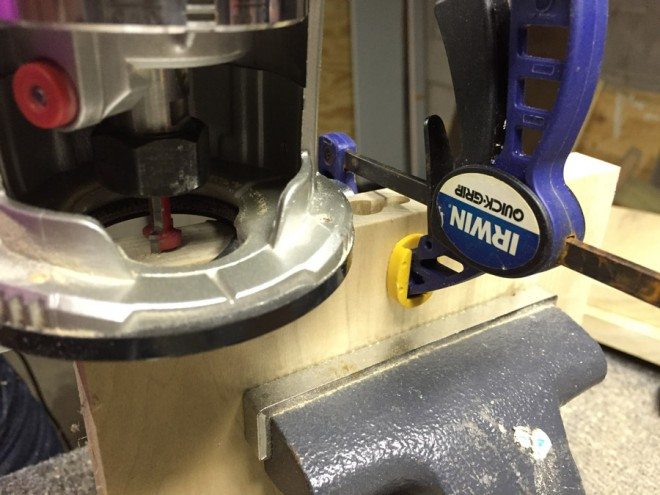 Test methods for using a keyhole router bit.