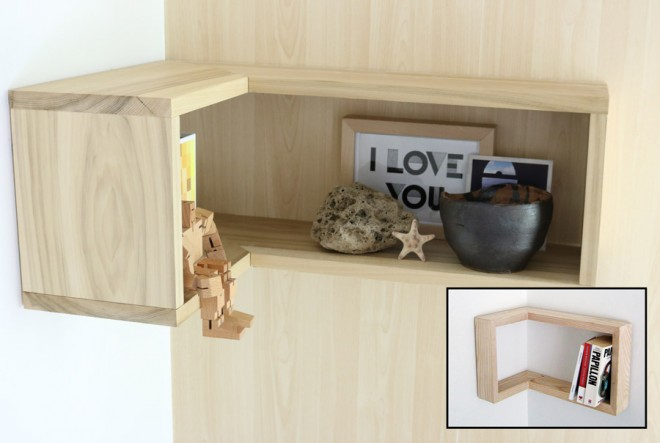 How to make a floating L-shaped shelf.