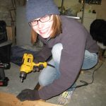 Smiled. Yes, I'm wearing gardening gloves, and yes, the screws and bolts kept tearing them to pieces.