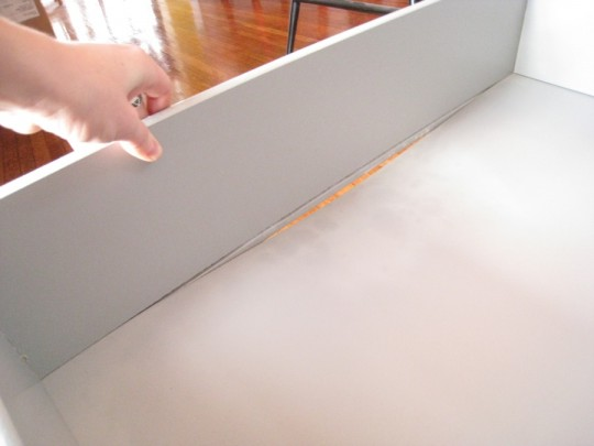 What's a broken, saggy IKEA shelf look like? This. Keep reading to see my easy and effective fix.