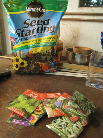 Seed starting potting soil; $3.97.