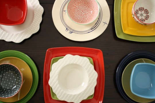 Embracing the unexpected and bringing home unwanted, left-behind sale dinnerware..